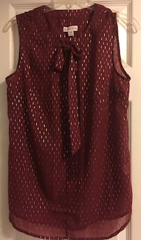 Merona Wine Bow Tank (Never Worn) Woodbridge