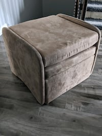 Faux suede printable recliner chair
