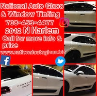window tinting//auto glass//windows tints  Chicago