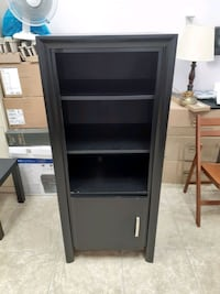 Bookcase with bottom door || Classic Black || Good Condition