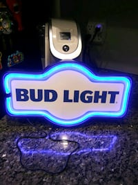 "BUD LIGHT: 17"" Marquee shaped LED sign   Gaithersburg, 20886"