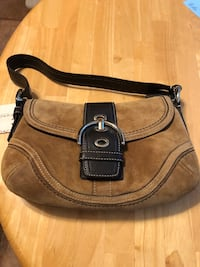 Genuine COACH Suede Handbag