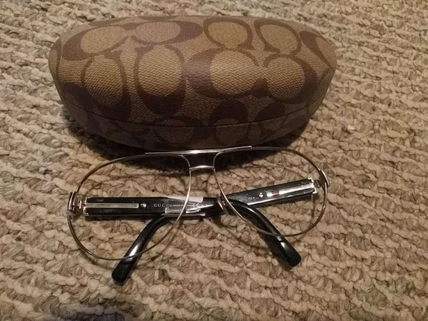 Gucci glass frames with coach case