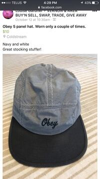 Obey 5 panel hat worn a couple of times