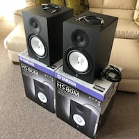 Yamaha Hs 80M Active Studio Monitors / Speakers / Pair null