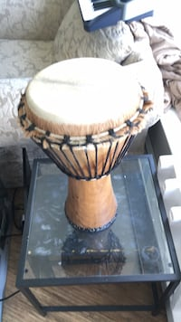 Brown and black wooden djembe African drum Vancouver, V6B 0B9