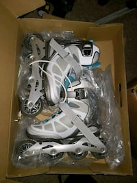 white-and-blue inline skates Alexandria, 22314