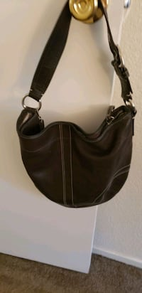 PURSE-COACH BROWN LEATHER!