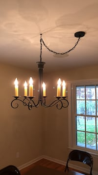 Black dining room chandelier very nice just reduced