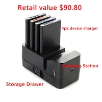 New 4-pack 4,500 mAh Portable Device Chargers 55 km