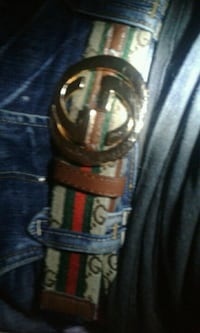 Authentic gucci belt with serial number on it  Edmonton, T5P 2B1