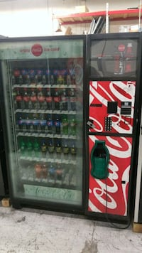 black and red Coca-Cola vending machine Gaithersburg, 20879