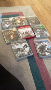 Six assorted ps3 game cases
