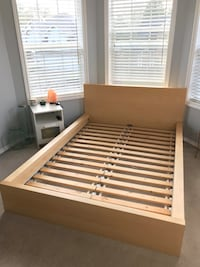 Full size bed with mattress and gel mattress topper
