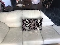 White leather couch  Toronto, M8V 0H9