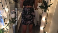 women's black and pink floral pencil skirt Surrey, V3S 4R6