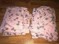 two white and pink floral textiles Springfield