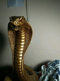 Gold Painted Cobra Statue, Made in Canada Port Coquitlam, V3C 4N4