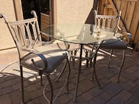 round glass top table with four chairs dining set Sparks, 89436