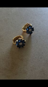 High quality gold plated sapphire earrings Sayreville, 08872