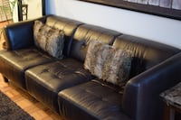 Macy's 3 seater and love seat brown leather