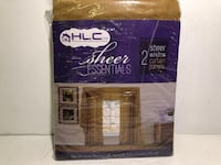 "HLC.ME 2 SHEER WINDOW CURTAIN PANELS IN DARK TAUPE (108""X84"") - FJN"