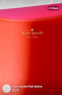 Kate spade iPad sleeve-authentic /little wear on corners otherwise good condition London, N5W 1E8
