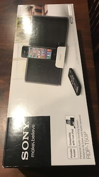 Sony with speaker system box for iPad and iPhone 5 Washington