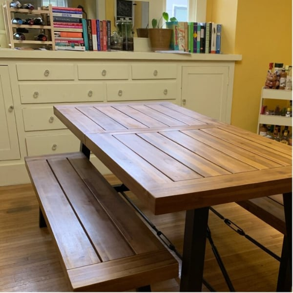 Solid wood dining table. (Table Only)