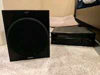 Surround sound stereo receiver and subwoofer Dallas, 75204