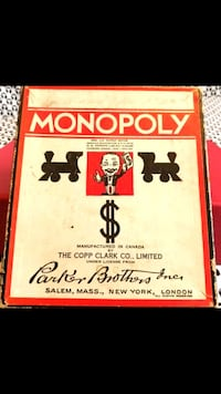 1st Monopoly Canada 1936, Complete w/8 Die Cast To London, N5Y 2J3