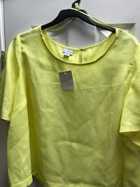 Jaclyn Smith ladies yellow tops sizes 1x 2x 3x new with tags Lexington Park, 20619