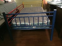 blue and red metal bed frame Fort Washington, 20744