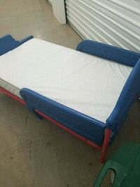 blue and white bed frame New Braunfels, 78130