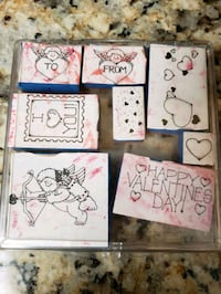 Valentine's Day and Spring Rubber and Wooden Stamps