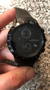 Hugo boss chronograph watch with black strap Vancouver, V6E 2E5