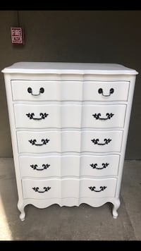 """Antique Dresser Refinished in Antique White. 50"""" hgt x 35""""L x 21"""" Deep. Cheap delivery available if we live close  Mesquite, 75150"""
