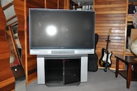 gray flat screen TV with stand VANCOUVER