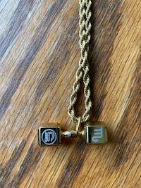 Gold Plated Dumbbell Necklace Pendant Vancouver, V6B 4N6