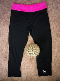 Black and pink yoga pants active wear womens small/medium stretchy