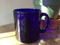 Blue glass mug 12 oz-$5 Toronto, M6R 1Z8