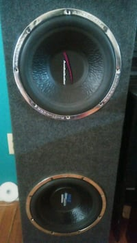 black and gray subwoofer speaker Union City, 30291