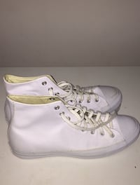 All white Leather Converses (Size 11.5) (Price negotiable) Columbus, 43206