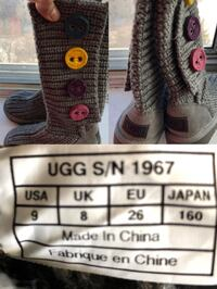 UGG Girls boots Grey for $20 Age 5 to 6 years old, mint condition  Toronto, M4H