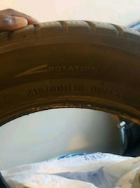 black and brown car tire Toronto, M3H 5Z4