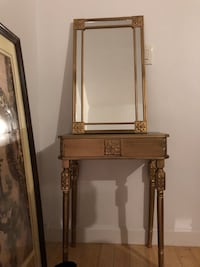 gloden console table with mirror 纽约市, 11367