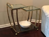 Stainless steel frame glass top table Jacksonville