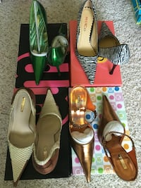 New size 6 high heels $ 20 each all 4 pair $ 75 New Lenox, 60451