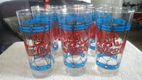 6 Tiffany style collectable drinking glasses Pepsi Henderson, 89009