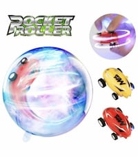 New 2 Pack Mini Spin Toys Rechargeable Stunt Race Car with LED Light